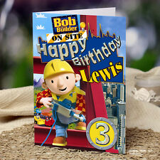 EXTRA LARGE Bob The Builder  **Personalised A4 Birthday Card** son nephew dad