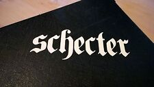 Schecter Decal Logo Sticker for Guitar Hard Case, Amp Cab, Wall Art, Window, Car