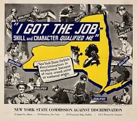 'I GOT THE JOB - SKILL AND CHARACTER QUALIFIED ME'  World War 2 Poster Repro