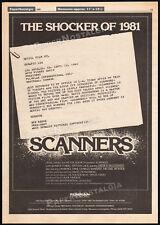 SCANNERS__Original 1980 Trade print AD / poster__movie promo__DAVID CRONENBERG