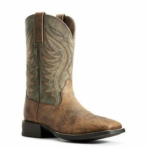 Ariat Men's Sorrel Crunch & Army Green Amos Boots 10029688