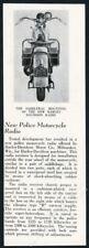 1936 Harley Davidson police motorcycle radio photo vintage article