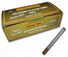 Good Times Gold (Lite Flavor) 100s Size Cigarette Tubes 200 Count Box