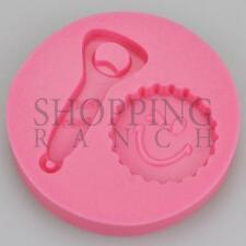 Beer Bottle Top and Opener Silicone Mould Cake Cupcake Topper