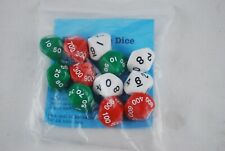 Package of 12 Place Value Dice to Thousands for Math Games NEW