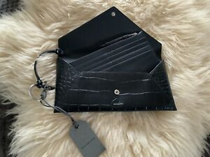 All Saints Polly Leather Wallet & Card Slim Wallet Clutch BNWT'S RRP £108