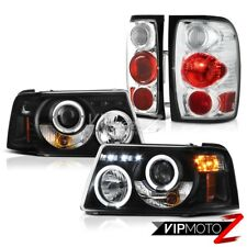 Halo Projector Headlights Front Lamp Euro Tail Lights 2001-2011 Ford Ranger V6