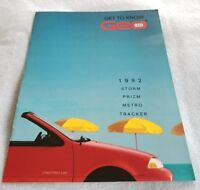 Original 1992 Geo Full Line Sales Brochure 92 Prizm Metro Tracker Storm