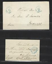 Netherlands: two (2) stampless covers originating in Amsterdam