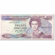 [#605480] Banknote, East Caribbean States, 20 Dollars, 1988-93, Undated