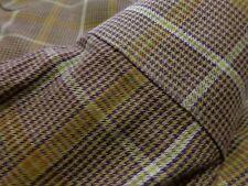 $259 Barry Bricken Brown/lt Tan Houndstooth Dress Shirt size 17 x 36 C034