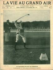 Publicité ancienne document concours de golf de Compiègne issue magazine 1900
