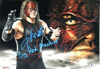 WWE KANE HAND SIGNED AUTOGRAPHED 11X14 PHOTO WITH PROOF AND BECKETT COA RARE