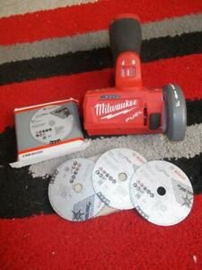 12V MILWAUKEE FUEL M12 CUT OFF TOOL M12 FCOT WITH DISCS L@@K FUEL BRUSHLESS BARE