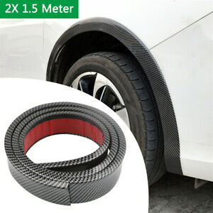2PCS Universal Car Body Fender Flares Rubber 6.5cm*1.5Meter Protector Sticker