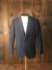 New J. Crew Men 40R Crosby Suit Jacket Italian Cotton Pique Navy B8898