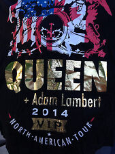 QUEEN ROCK BAND ADAM ALMBERT CONCERT TOUR ROCK & ROLL BLACK FAN T-SHIRT MEDIUM