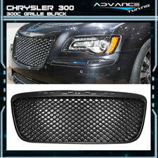For 11-14 Chrysler 300 300C B-Style Front Mesh Grill Grille Black