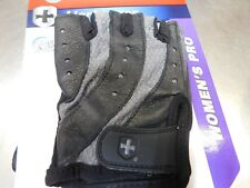 Harbinger Women's Pro Glove Pair Wash and Dry Black/Gray (SMALL)