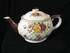 Caledonia Pottery Staffordshire Pottery Rose Teapot Tea Pot