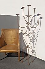Vintage Spanish Style Wrought Iron Five Arm Candelabra Candle Holder