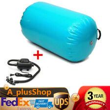 100x85cm Inflatable Gymnastics Mat Air Roll Balance Training Roller Gym Pad Usa