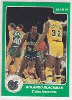 1984-85 Star Arena ROLANDO BLACKMAN Basketball Card # 2 DALLAS MAVERICKS