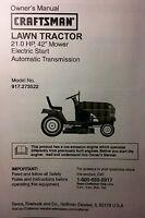 craftsman lt1000 manual free download