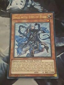 Yugioh Sage with Eyes of Blue SHVI-EN020 Ultra Rare 1st Edition. YU-GI-OH!
