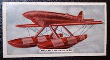 MACCHI CASTOLDI M72  Racing Seaplane   Vintage Colour Card