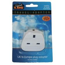 Itech UK to EU Travel Adaptor  - White