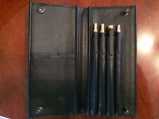 Vintage rOtring 600 Newton Black and Gold Four Pen Set And Leather Case