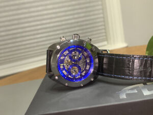 RARE - Android Chronograph watch Limited Edition Tungsten Case Leather strap