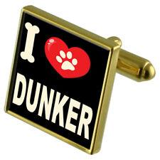 I Love My Dog Gold-Tone Cufflinks & Money Clip - Dunker
