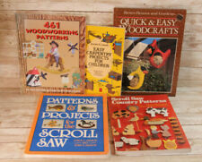 Lot of 5 books - Woodworking Patterns Children Easy Scroll Saw Projects