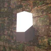 Außenleuchte LED Wandleuchte Wandlampe außen silber Aluminium Außenlampe warmwei