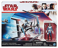 Star Wars The Last Jedi Force Link Canto Bight Police Speeder and Vehicle Action Figure