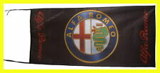 ALFA ROMEO FLAG BANNER  BLACK 3D spider milano 5 X 2.45 FT 150 X 75 CM