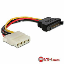 Power cable 15-pin SATA male to 4-pin Molex female power cable