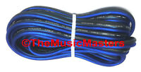 10 Gauge 15' ft SPEAKER WIRE Blue Black Premium HQ Car Audio Home Stereo Cable
