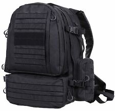 """Black Extended Deployment Military Tactical Pack MOLLE 21"""" Hunting Backpack Bag"""