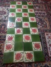 Antique Victorian Majolica Full Set Of Tiles X10 Circuit 1880s