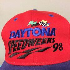 Vintage 1998 Daytona 500 Speedweeks Snapback Hat Cap VGUC Embroidered NASCAR