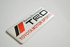 Toyota TRD OEM Aluminum Alloy 3D Emblem Badge MR2 Yaris