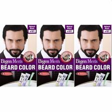 3 X Bigen Men's BEARD COLOUR (Natural Black B101)