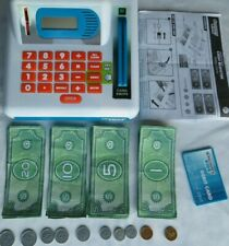 Discovery Kids Cash Register Calculator Money Pretend Talking Electronic Works