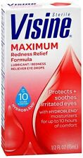 Visine Maximum Redness Relief Eye Drops 0.50 oz (Pack of 3)