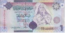 Libya Banknote P71 1 Dinar Series 7 Ghadaffi, UNC