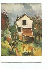 POSTCARD PAINTING , MAURICE DE WLAMINCK , THE HOUSE WITH THE WEATHERBOARD