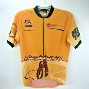 Canari Men's Thin Breathable Cycling Jersey With 3 Back Pockets Bright Yellow XL